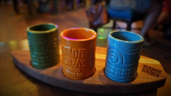 Rum flight mini tiki mugs