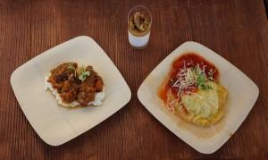 Pork spareribs, vanilla panna cotta, and ravioli from Sustainable Chew. (Photo by Julia Mascardo)