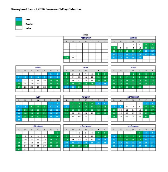 539 x 553 jpeg 72kB, Disneyland Ticket Pricing Calendar 2016
