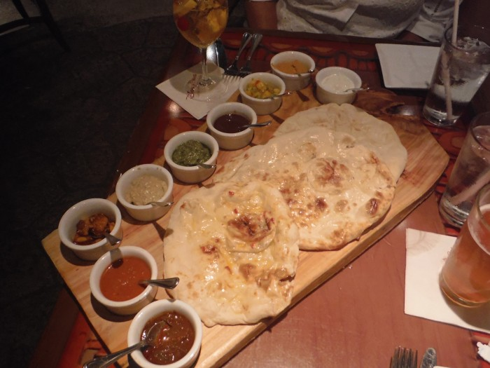 Sanaa Bread Service with all 9 Accompaniments