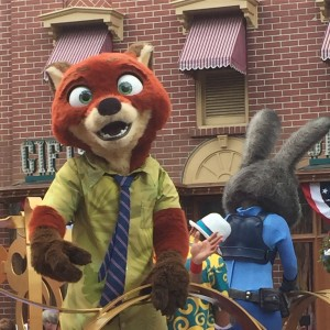 Nick and Judy from Zootopia during the Move It, Shake It, Dance and Play It! Street Party ©Rikki Niblett